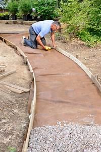 Feutre Géotextile Pour Gravier : 65 walkway ideas designs brick flagstone wood ~ Louise-bijoux.com Idées de Décoration