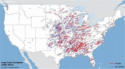 Tornadoes Track Tornado Map Historical Occur Miles