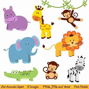 Zoo Animal Clip Art, Zoo Animal Clipart, Safari Jungle ...
