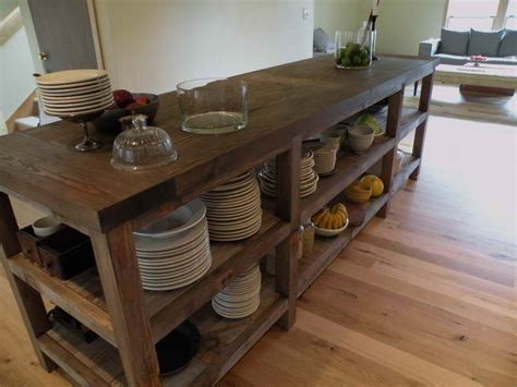 Reclaimed Wood Kitchen Island Custom Kitchen Dining Room Wall Ideas Set Table Glass Sideboards For Farmhouse Cream Brooklyn Victorian Style Furniture Tuscan Lighting