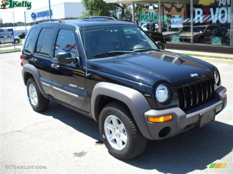 black jeep liberty interior 2003 black clearcoat jeep liberty sport 4x4 33548797