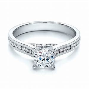 Contemporary channel set diamond engagement ring 100405 for Channel set diamond wedding ring