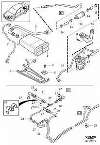 Volvo V40 Vapor Canister  Evaporator Canister  Code  Emission  Fittings - 30684417