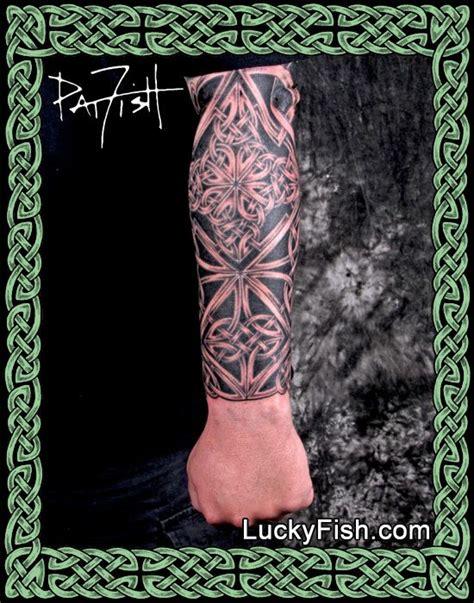 celtic hero knotwork forearm sleeve tattoo ink