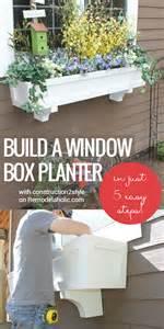 remodelaholic   build  window box planter   steps