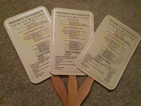 paper fan wedding programs     save