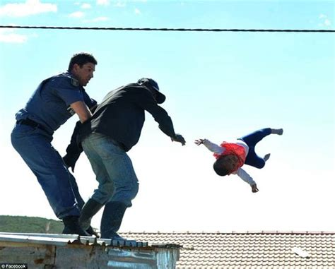 South African Man Throws His Daughter Off The Roof Of