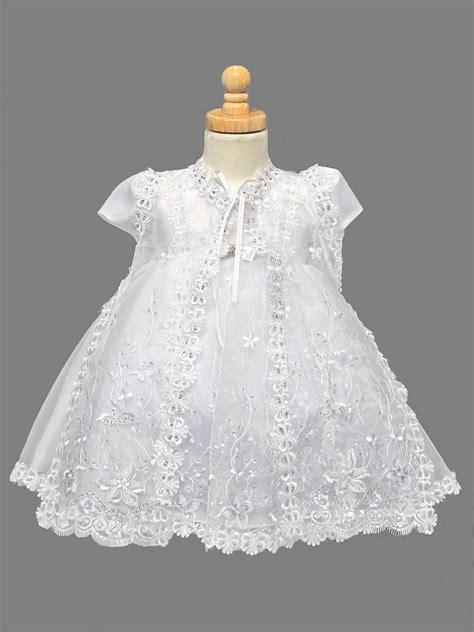 embroidered sparkle  piece organza christening dress