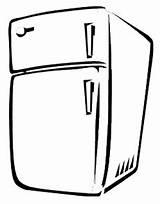 Fridge Refrigerator Coloring Fridges Sketch Template sketch template