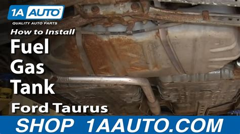 install replace fuel gas tank   ford taurus