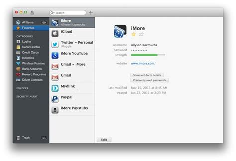 best password manager apps for mac 1password lastpass onesafe and more imore