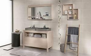 Salle de bains bois des photos d39inspiration cote maison for Porte de douche coulissante avec meuble de salle de bain en bois clair
