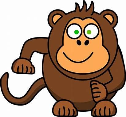 Monkey Clip Clipart Monyet Animasi Baboon Banana