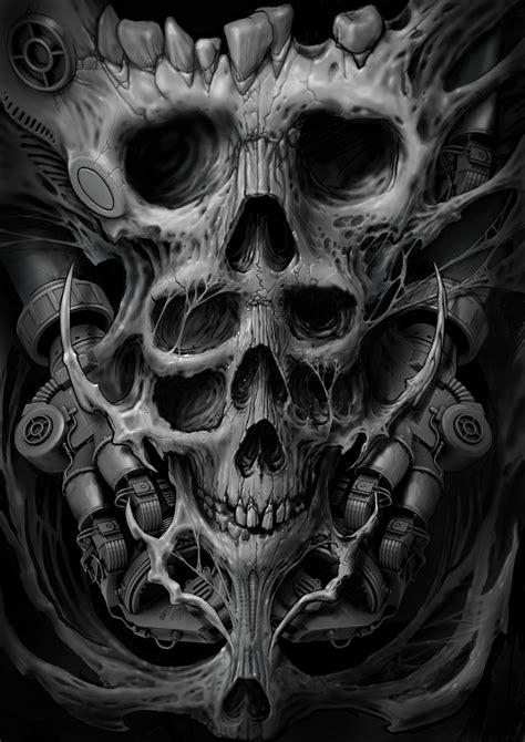 Artstation Bio Organic Skulls Dimitri