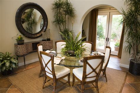 bamboo table  chairs furniture  dining room