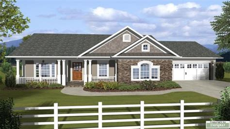 ranch house plans  attached garage ranch house plans  basements popular  story house