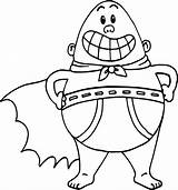 Underpants Drawing Captain Coloring Pages Getdrawings sketch template