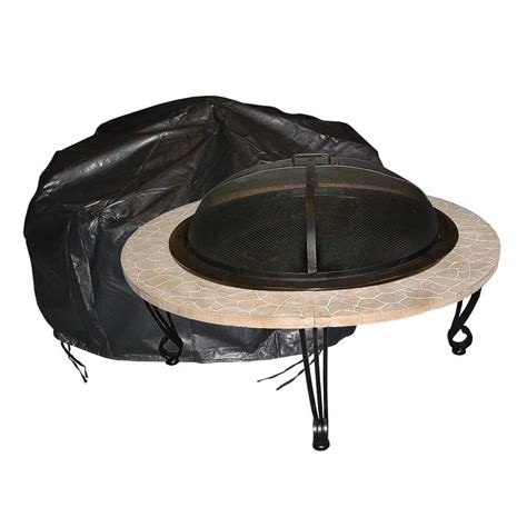 Round Fire Pit Cover  Fire Sense 02126  Fire Pits