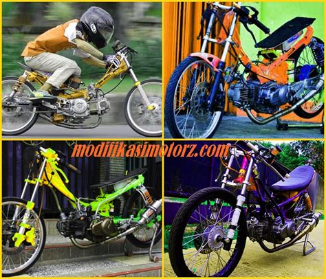 Foto Motor Jupiter by Foto Modifikasi Jupiter Z Drag Bike Terbaru Modifikasimotorz