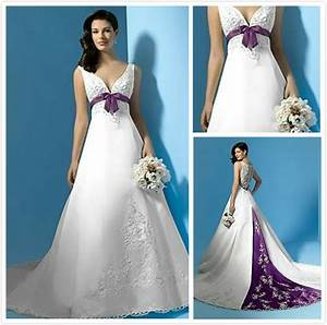 purple and ivory wedding dresses with color accents satin With wedding dress with purple accents