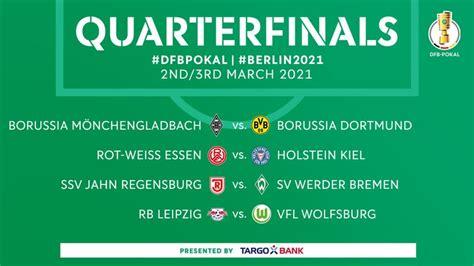 Eintracht frankfurt muss zum sv waldhof mannheim. DFB Pokal Quarterfinal Draw 2020-21 Result