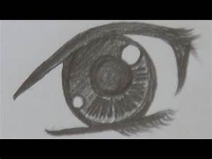 A way of drawing anime pretty girl's eye - pencil drawing ...