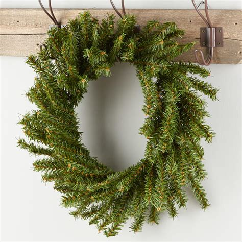 artificial canadian pine wreath holiday florals