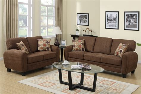 Brown And Sofa by Brown Fabric Sofa And Loveseat Set A Sofa