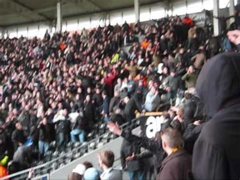 Crowd trouble Hull City vs Millwall - YouTube