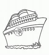 Ship Cruise Coloring Drawing Transportation Printable Wuppsy Template Templates Ships Disney Printables Sketch Boys Titanic Getdrawings Cutouts sketch template