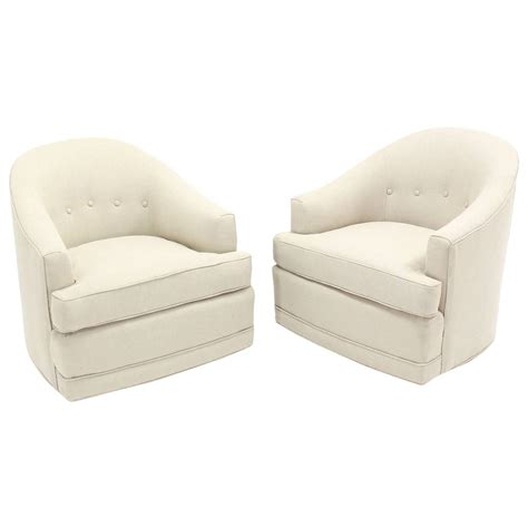 Swivel Club Chairs Swivel Glider Barrel Club Chair Grade C by Pair Of Barrel Back Swivel Chairs For Sale At 1stdibs