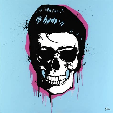 Elvis Skull Art Rebellion