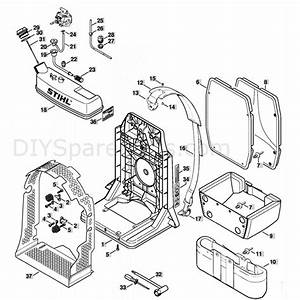 Stihl Br 340 Backpack Blower  Br 340  Parts Diagram  Backplate