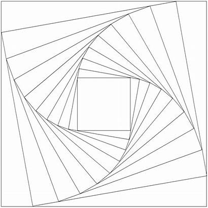 Drawing Geometric Templates Illusion Patterns Coloring Pages
