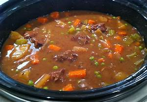 Slow Cooker Beef Vegetable Soup Recipe — Dishmaps