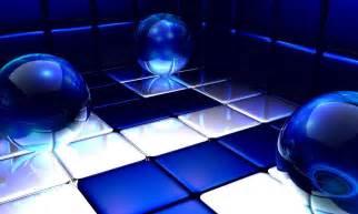 Black and Blue 3D Abstract Desktop Wallpaper