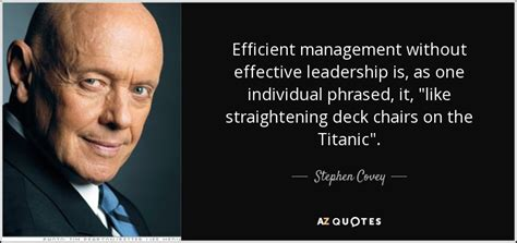 stephen covey quote efficient management