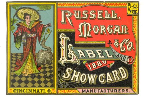 russell morgan company label  show card  images