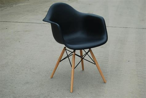 black eames style eiffel daw lounge dining chairs armchair
