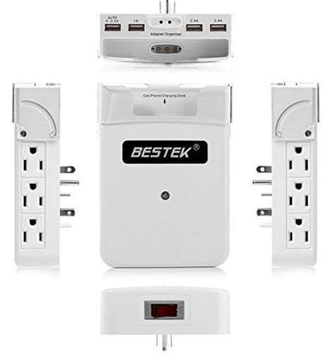 surge wall protector mount outlet protectors bestek mounted