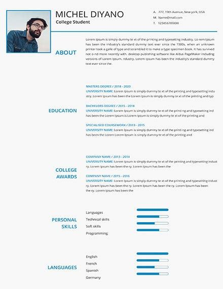 2 writing your summary statement the first step to creating a resume that makes an impact on hiring managers is to write a compelling summary statement. 24+ Student Resume Templates - PDF, DOC | Free & Premium Templates