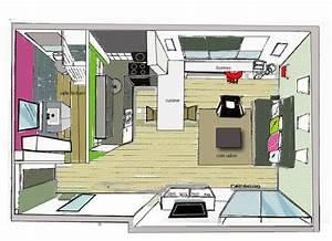 plan en volume illustrator photo de comment amenager un With comment meubler un petit studio 1 83 photos comment amenager un petit salon