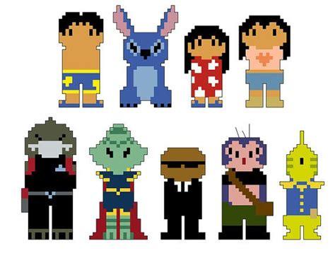 Lilo And Stitch Pixel People Character Cross Stitch Pdf