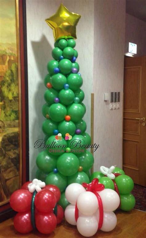 how to make a balloon christmas tree tree balloon decor luftballons