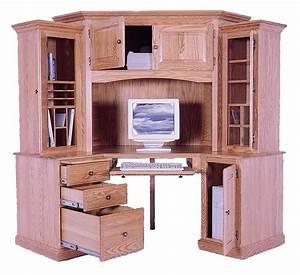 Amish Grand Corner Computer Desk