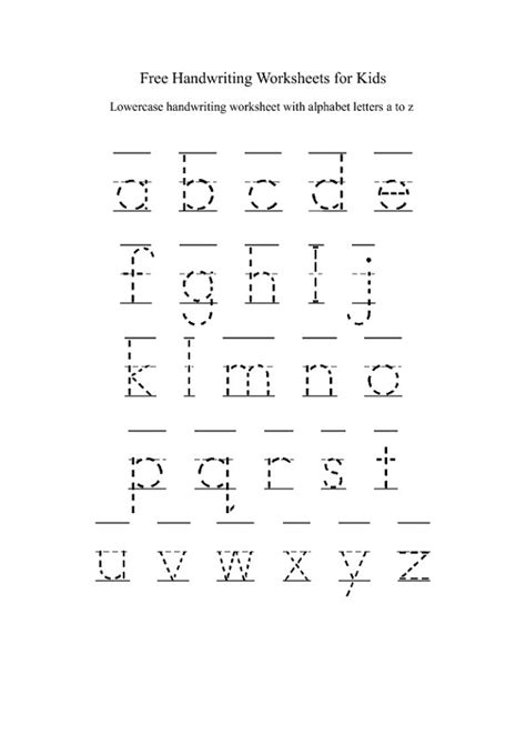 lowercase alphabet worksheets printable shelter