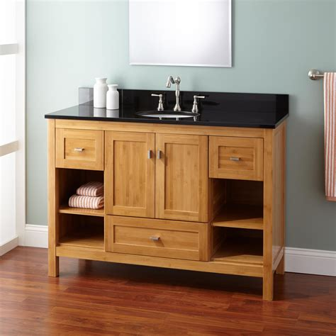 What Is A Bathroom Vanity by 48 Quot Narrow Depth Alcott Bamboo Vanity For Undermount Sink