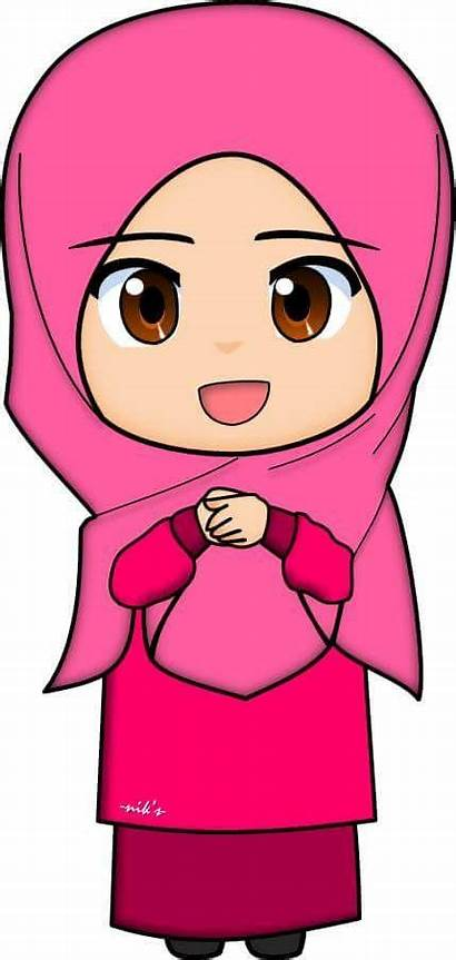 Clipart Muslim Islamic Muslimah Cartoon Animation