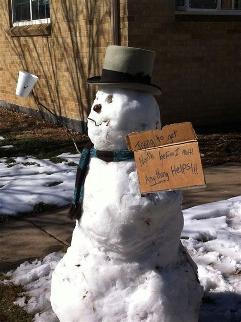 hilariously creative snowman ideas