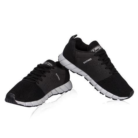 Bugatti shoes are popular for their contemporary detailing and comfort. Seega Gold Extro 01 Black Color Men Running Shoes | Online ...